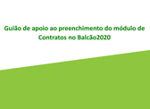 """""""Disponibilizado Guião de Apoio ao Preenchimento do Módulo de Contratos no Balcão 2020"""